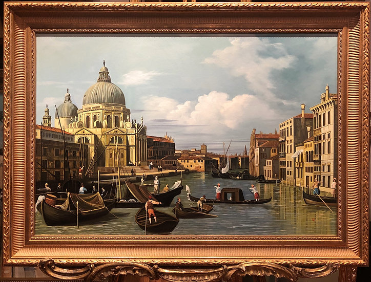 OIL PAINTING VENICE MASTER Style LARGE CIRCA 20TH CENTURY RUSSIAN SC