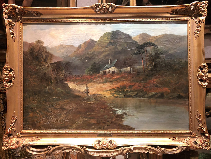Fine huge Original Antique 19th Century British OLD MASTER OIL PAINTING