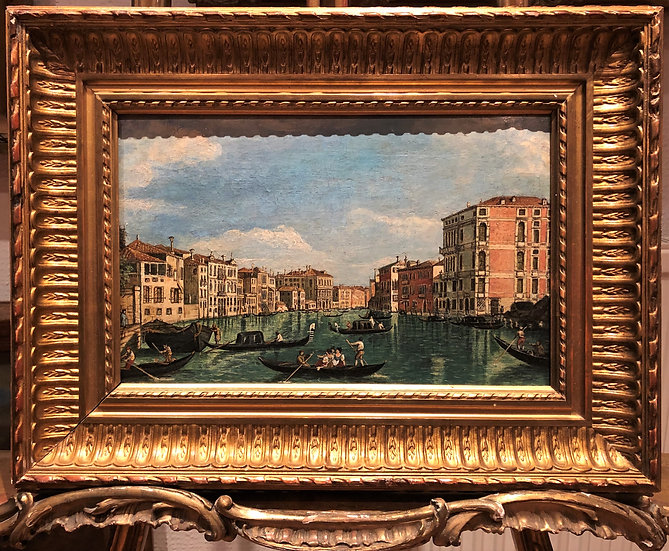 OIL PAINTING OLD MASTER of Venice 19th CENTURY in a GOLD GILT FRAM