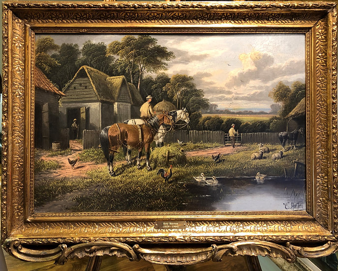 FINE ORIGINAL ARTIST E . Horton 19th CENTURY BRITISH OLD MASTER OIL PAINTING