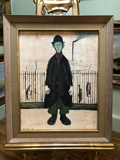 "OLD MASTER Signed L S Lowry "" Green Gentleman  "" Oil Painting 20th CENTURY"