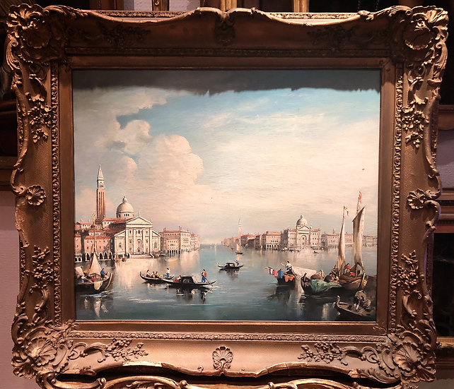 OIL PAINTING LARGE VENICE MASTER CIRCA EARLY 20TH CENTURY RUSSIAN SCHOOL MAYBE