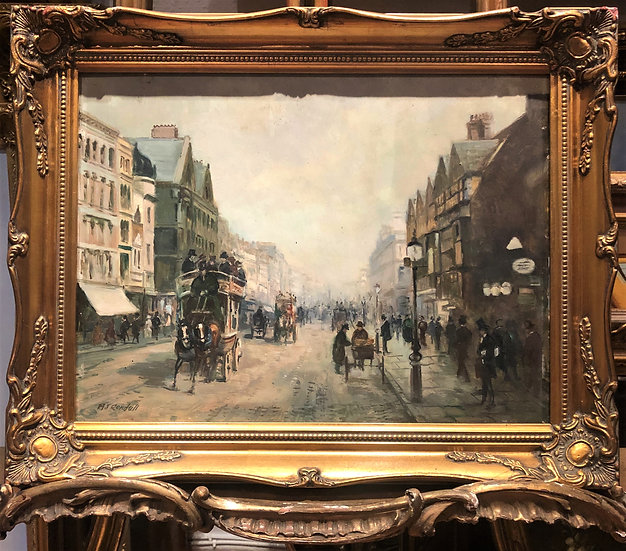 OIL PAINTING OF LONDON By M . J . RENDALL MID 20th CENTURY IMPRESSIONISM