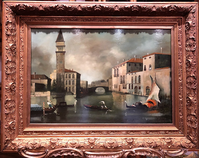 Early 1900's Follower of Francesco Guardi VENICE MASTER OIL PAINTING LARGE