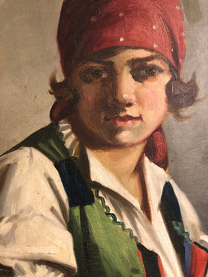 FINE ORIGINAL ARTIST EARLY 1920's/30's HUNGARIAN OLD MASTER OIL PAINTING