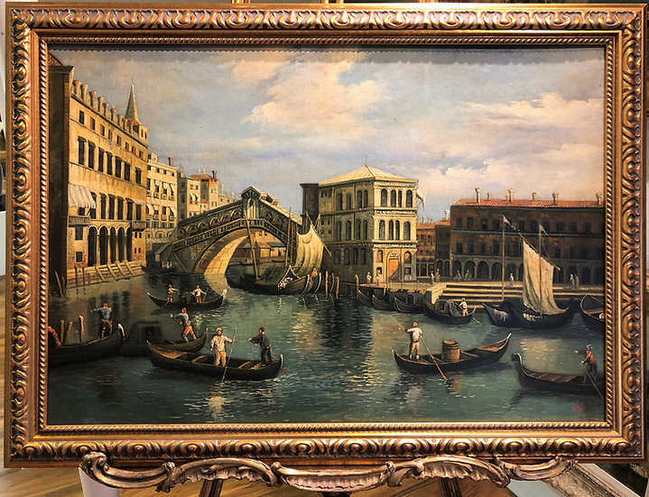 OIL PAINTING LARGE VENICE MASTER  CIRCA EARLY/ MID 20TH CENTURY FRENCH SCHOOL