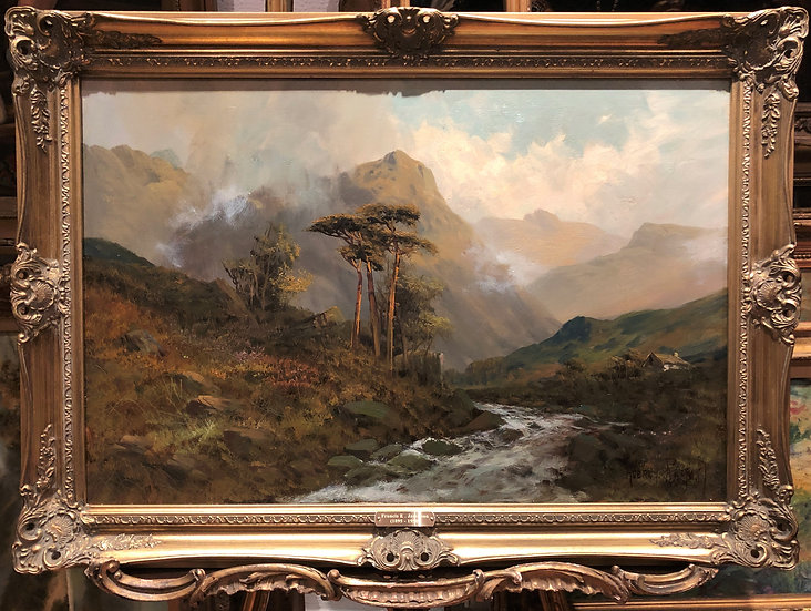 LARGE FINE F E.Jamieson Antique 19th Century British OLD MASTER OIL PAINTING