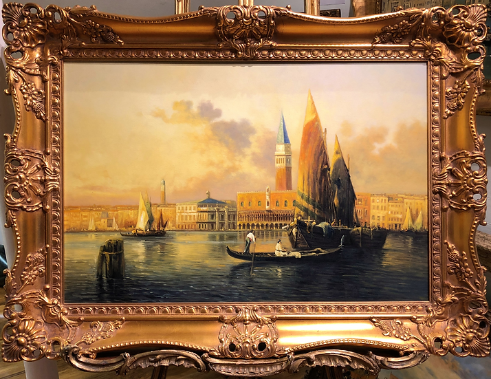 OIL PAINTING LARGE VENICE MASTER  CIRCA 20TH CENTURY MODERN