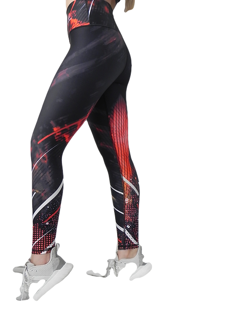 MIDNIGTH ABSTRACT HIGH RISE LEGGING