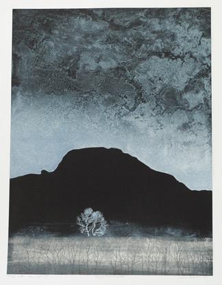 Vinternatt lito/serigrafi 43x58cm