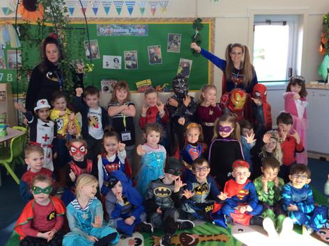 Superheros in Reception!