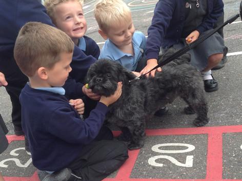 Dusty the Dog visits Yr1!