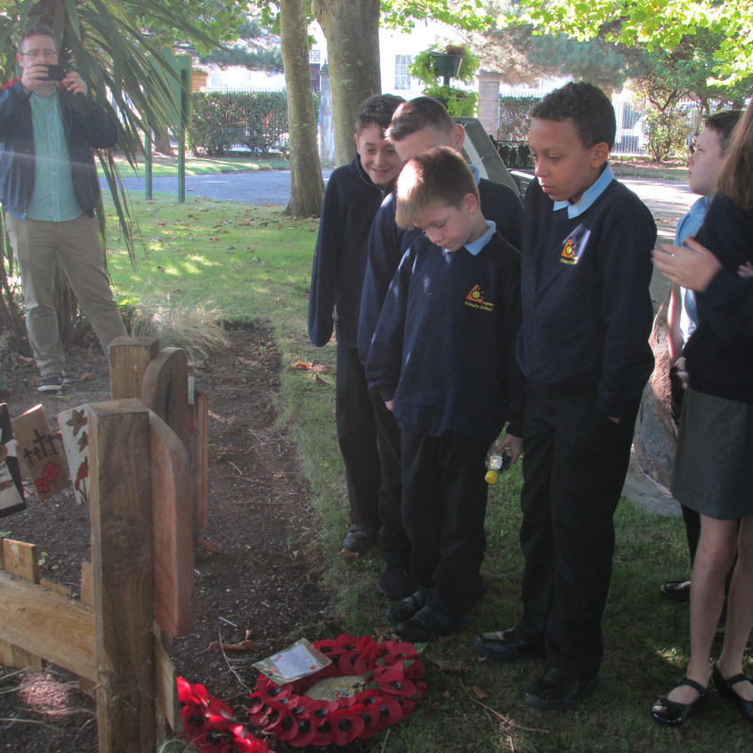 Visiting the Memorial at Beach House Park, Worthing