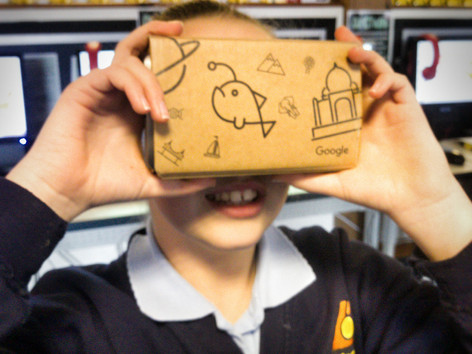 Google Expeditions come to Langney Primary School