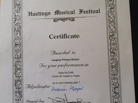Choir Compete in Hastings Festival