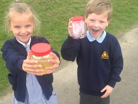 Flitter Jars in Yr1