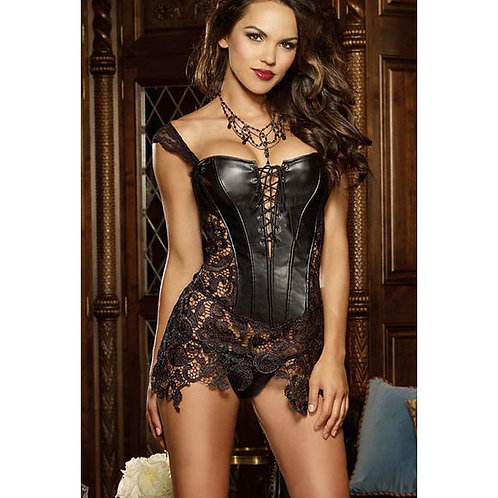 Leather and Lace Corset