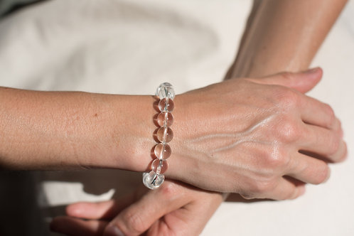 Clear Quartz 10mm Crystal Bracelet