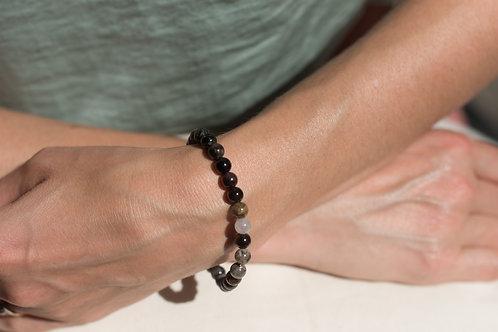 Tourmaline  6mm Crystal Bracelet