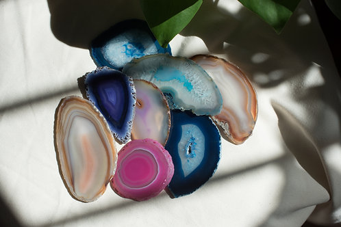 Agate Crystal Slices
