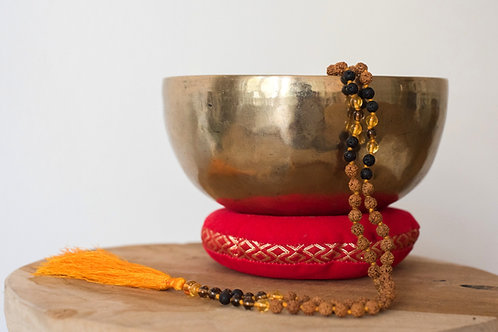 Rudeshka with Citrine Mala