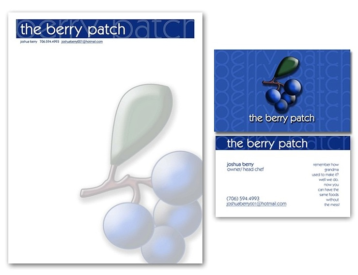 Berry Patch Restaurant - Stationery
