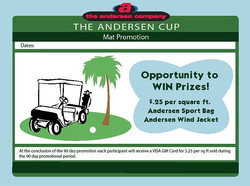 Andersen Cup Mat Promotion