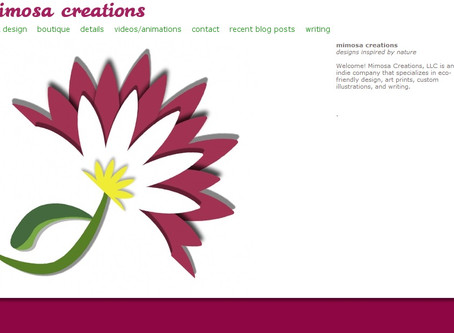 Mimosa Creations has a new website!