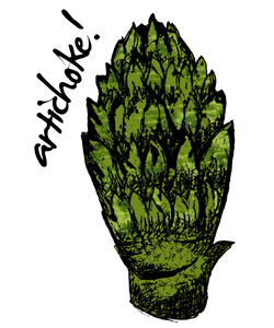 artichoke shirt design