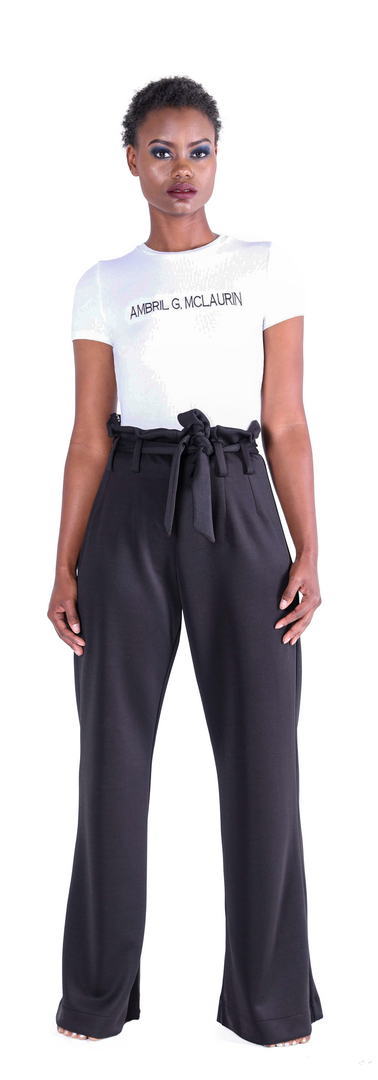 Signature Tee, High Waisted Trousers