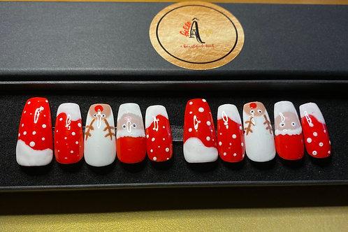 Christmas design Gel Press on Nails