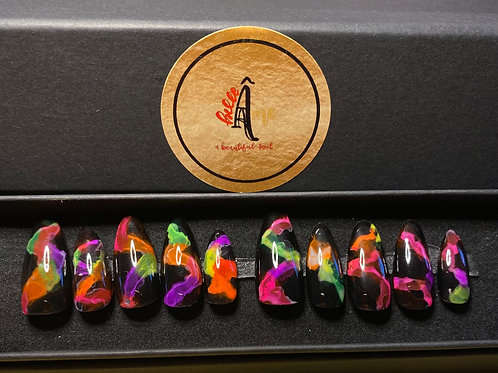 Neon Smoke Press on Gel Nails