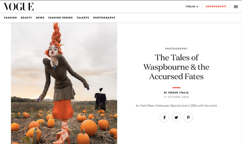 Vogue Italia 'The Tales of Waspbourne & the Accursed Fates'