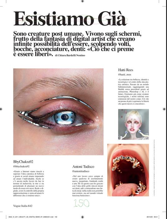 VOGUE ITALIA PRINT ISSUE NOVEMBER 19