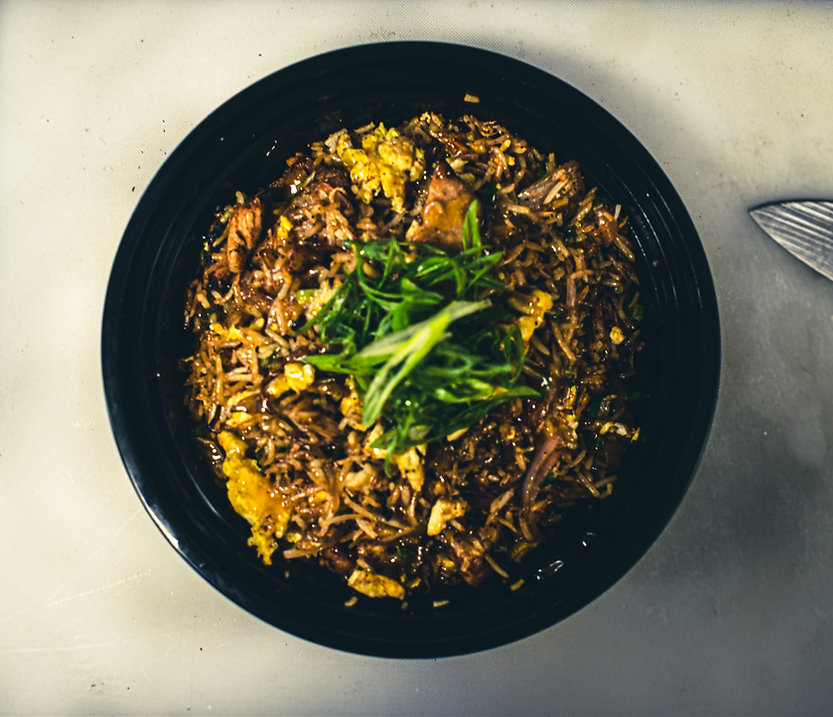 Yet another picture of pork fried rice. I swear we sell other things. our photographer is trying.