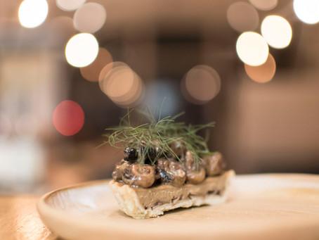 Mushroom and Peconic Escargot Tart