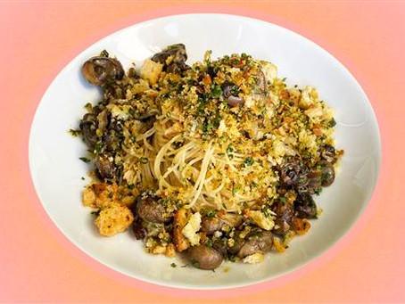 Andrew Zimmern's Peconic Escargot Bourguignon Pasta