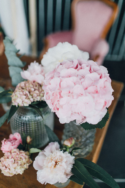 Blumen Autokino-Hochzeit
