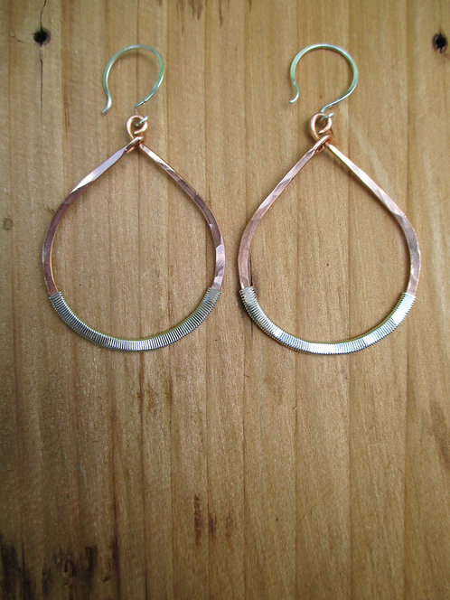 Large Wrapped Copper Goddess Teardrop