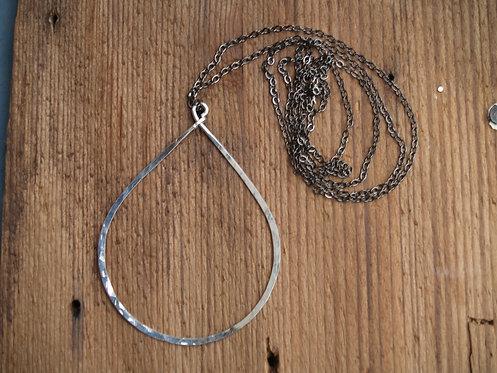 Goddess Teardrop Long Necklace