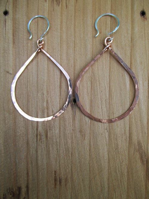 Large Copper Goddess Teardrop