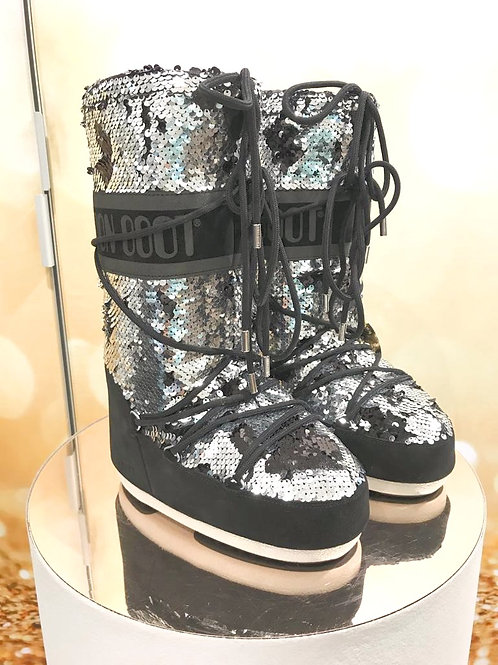 Moon Boot schwarz/silber
