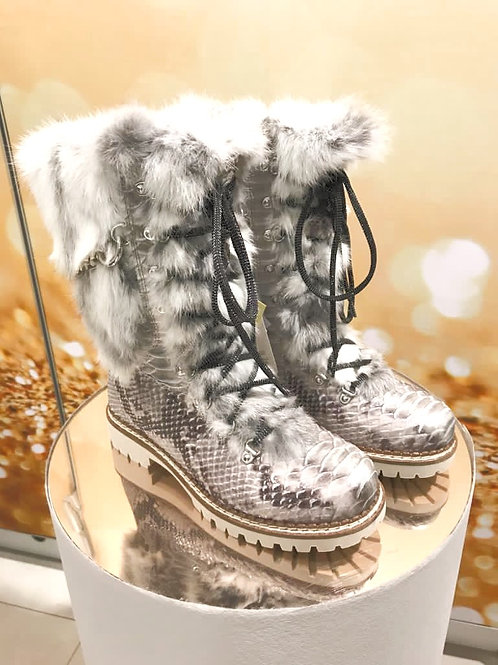 NIS 71 Damen Boots Grau,lang