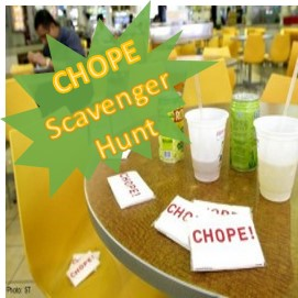 Chope! Scavenger Hunt