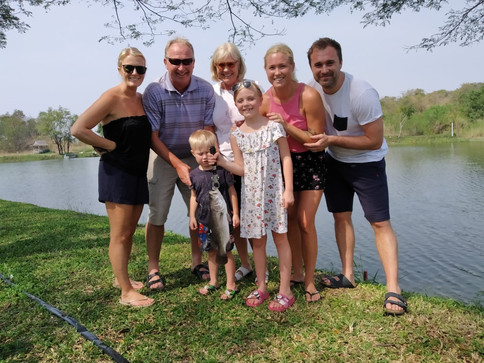 Barramundi fishing at Greenfield Valley Fishing Resort, Hua Hin, Thailand