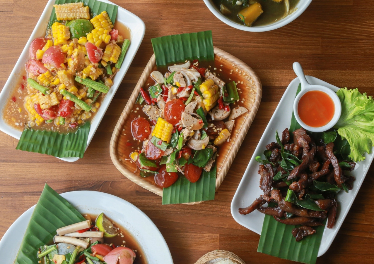 Esan / E-san / Issan / Isaan / Isan food at Greenfield Terrace Restaurant & Cafe, Greenfield Valley Fishing Resort, Hua Hin, Thailand