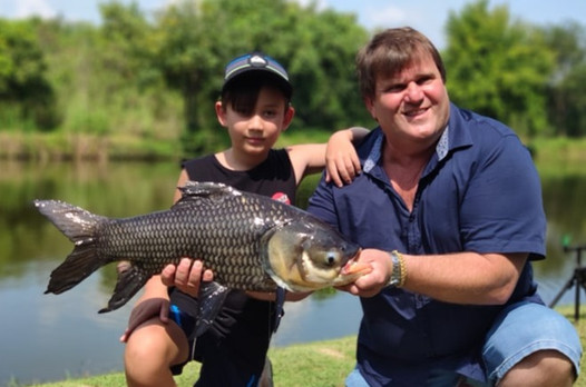 Siamese Carp fishing at Greenfield Valley Fishing Resort, Hua Hin, Thailand