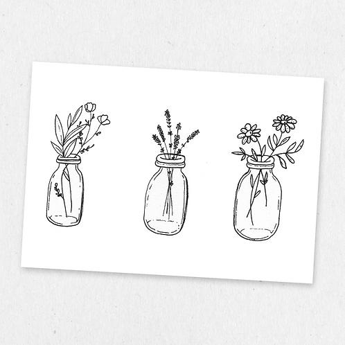 bottled flowers two