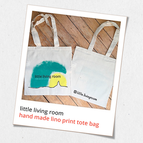 hand made little living room tote