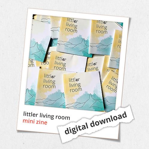 littler living room: digital mini zine
